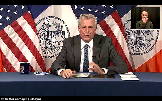 'We know how rapidly weather is changing, its like nothing we've ever seen before,' de Blasio said during Wednesday's presser