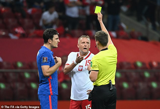 The two players were shown a yellow card by the referee, despite pleading their innocence