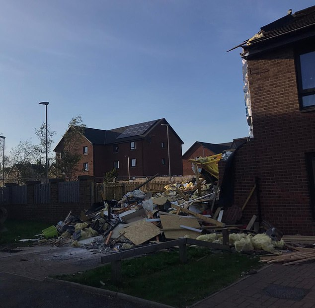 It was demolished on Tuesday and a second home next door is also set to be demolished