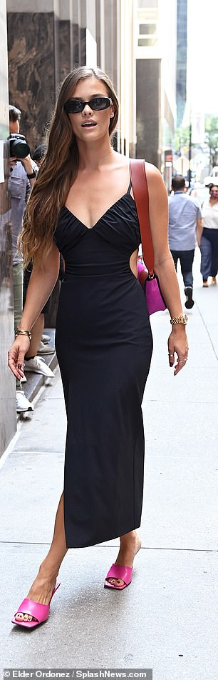 Out and about: Nina Agdal was seen participating in NYFW