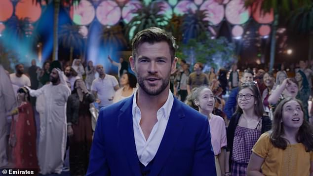 New campaign:Chris Hemsworth (centre) is fronting a new campaign for Dubai Tourism