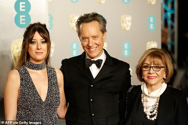 Together: Their close knit family would often attend events together, such as the BAFTAs here in 2019 with Olivia, Richard and Joan