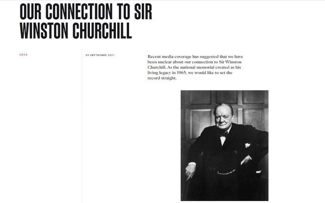 Yesterday the charity put up a new statement, with a picture of Sir Winston, praising him and denying they were cutting ties - although they will not be reverting back to the old name