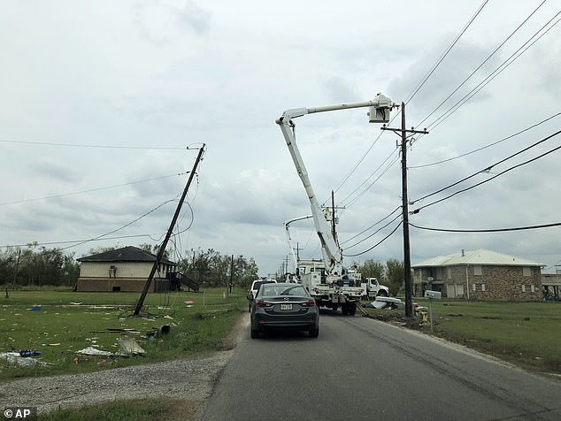 Utility crews across Louisiana are working on fixing downed power lines and restoring power in the state