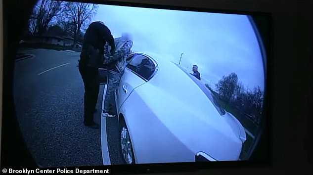 Police body cam footage shows three officers approaching Wright's car in Brooklyn Center, Minnesota, on April 11 after he had been pulled over for the traffic stop