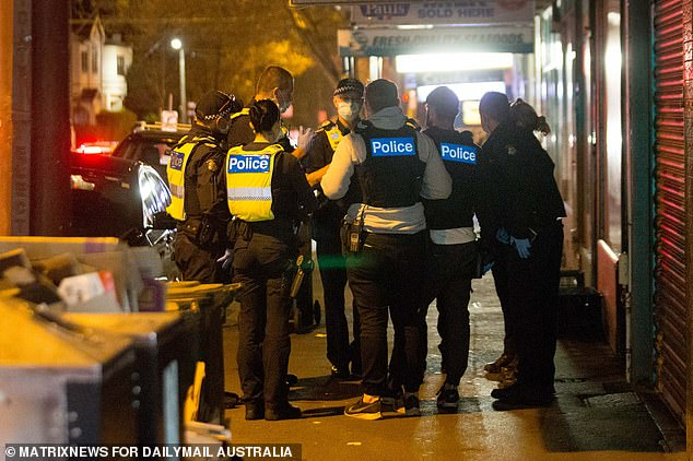 Police shut down the illegal gathering on Tuesday night after waiting for the attendees to disperse during the day