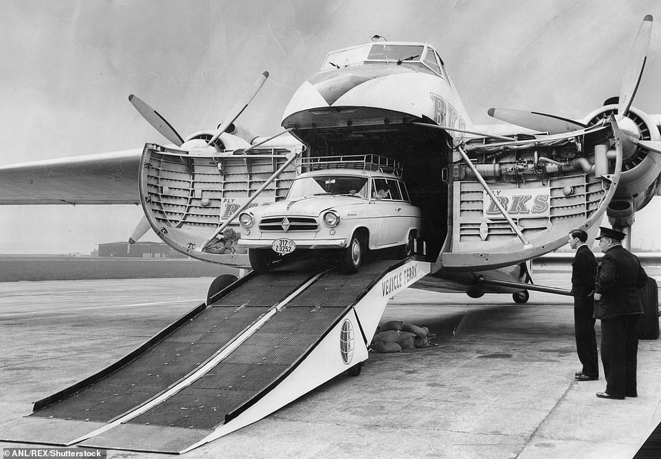 It was a plane which would likely never have been built had it not been for the Second World War. Released in 1946 after a successful test flight a year earlier, the Bristol Type 170 Freighter was a product of the rapid advance of technological development ushered in by the 1939-1945 conflict. Above: A car being loaded onto one of the planes in 1960 at Speke Airport in Liverpool