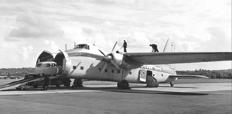 Until production was ceased in 1958, a total of 214 aircraft were built, including both the original version and subsequent variants, such as the larger Superfreighter (above), which could carry 20 passengers and three cars at any one time