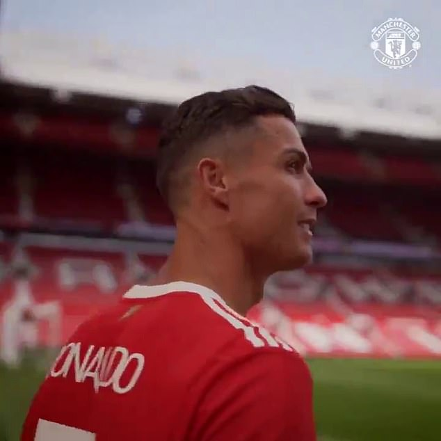 Cristiano Ronaldo has paid Old Trafford a visit before his second debut for the club on Sunday