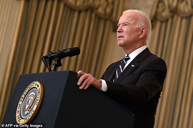 President Joe Biden pledged on Thursday (above) that the federal government has bought enough COVID-19 vaccine booster shots for every American