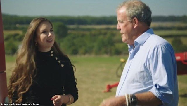 Georgia Clarke seemed bewildered by Jeremy Clarkson's choice of tractor in the show