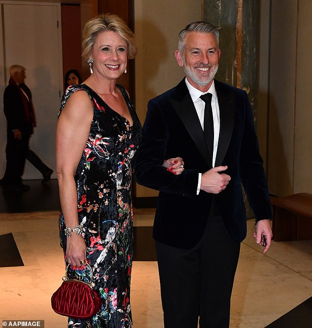 Kristina Keneally (pictured with husband Ben at the Parliament House Mid Winter Ball in 2019) has confirmed she will run in a culturally diverse safe Labor seat in western Sydney