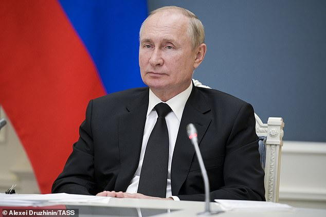 A Swedish couple have been banned from naming their son Vladimir Putin (pictured Wednesday in the Kremlin) by the tax authorities