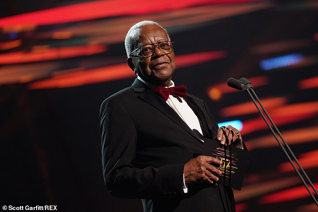 Shock:After Sir Trevor McDonald introduced the collection of the year's most iconic TV moments, a montage aired with scenes from the Royals' interviews included at the ceremony which was held at London 's 02 Arena