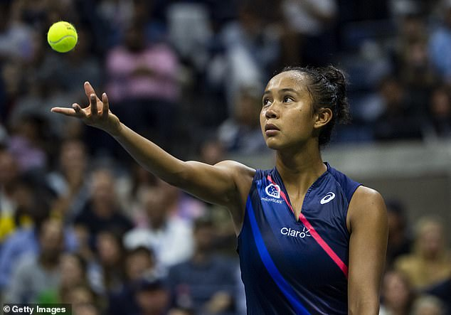 Fellow brainbox Leylah has previously revealed her parents were strict about school. Pictured at US open