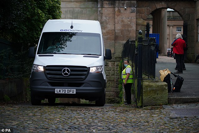 He has been driven by police van from HMP Altcourse to Chester Crown Court for the hearing