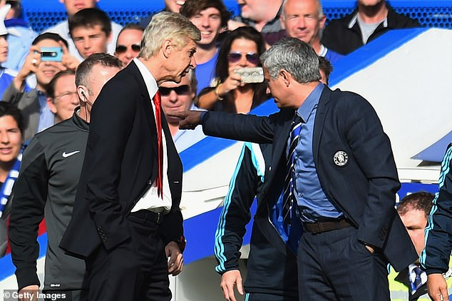 The 58-year-old has also clashed with several managers, including Arsenal's Arsene Wenger (l)