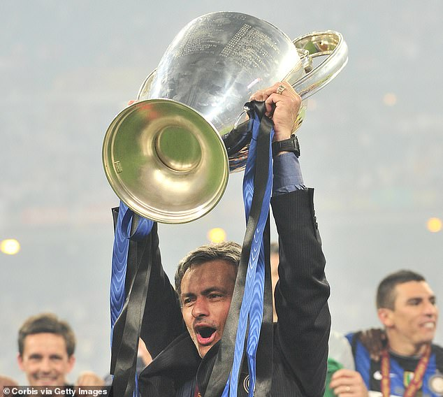 Mourinho won a famous treble, including the Champions League, during his time at Inter Milan