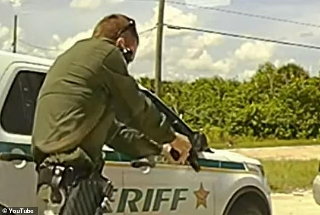 Thoman fired multiple rounds, killing Wilder, 'thus eliminating the threat and saving Deputy Potter's life,' Ivey said, adding that 'or those out there who might be foolish enough to ask why we shot him so many times, that answer is simple - because evil can never be dead enough'