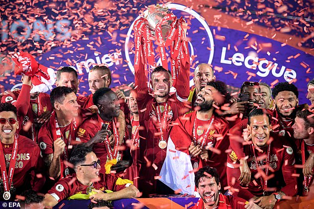 Liverpool lift their first league title in 30 years after their win over Chelsea at Anfield in 2020