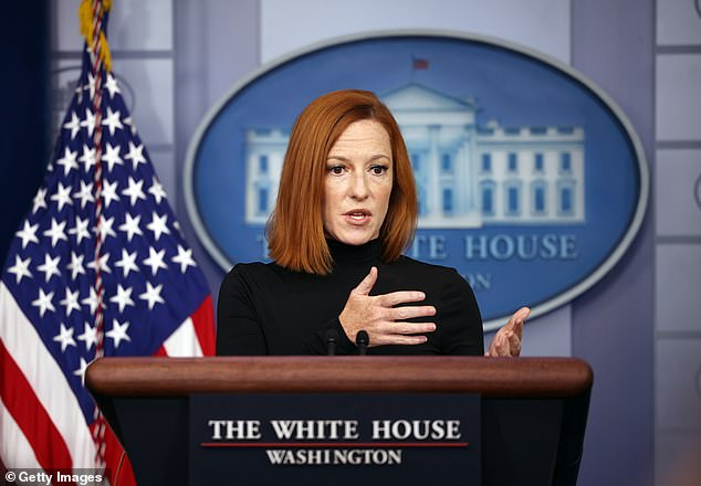 White House Press Secretary Jen Psaki said last Friday at a press briefing that the administration's goal is 'to get as many people vaccinated across the country as humanly possible.' But she breezed by a question about why businesses face a new mandate without a policy for vaccinating migrants at the southern border