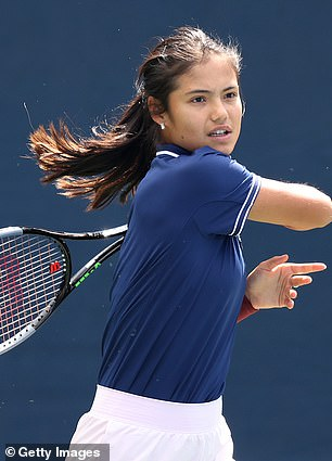 Raducanu (pictured) and Fernandez's contest is the first teenage female Grand Slam final since 1999