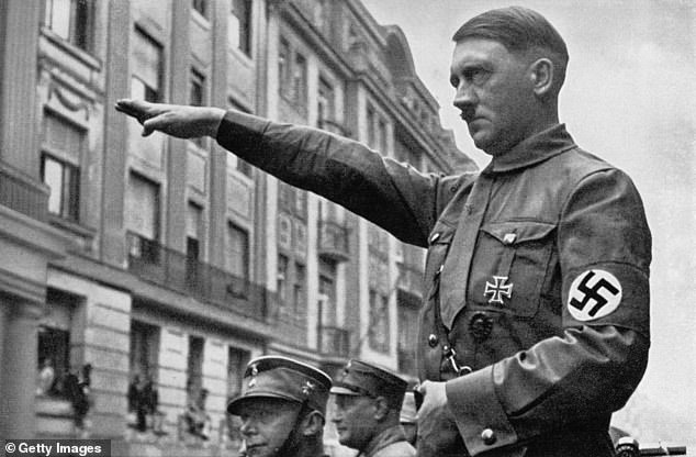 Just weeks before the start of WWII, Chips was convinced there would not be war between Britain and Germany, pictured, Adolf Hitler in Munich in the spring of 1932
