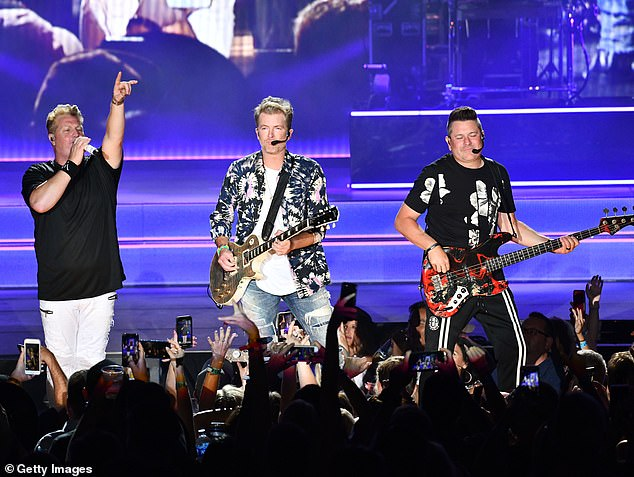 Disbanding: In January 2020, Rascal Flatts announced they were breaking up after a farewell tour that has since been postponed due to the COVID-19 pandemic; they are seen in 2019