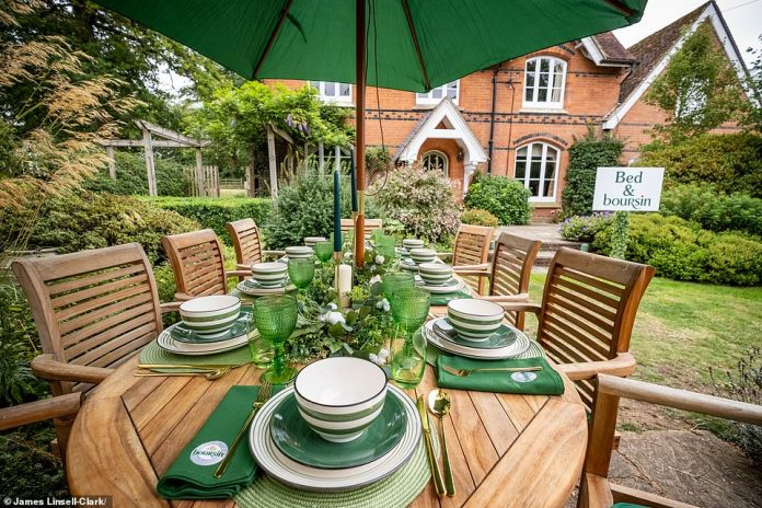 There is also an outdoor dining area for guests to enjoy.  Those who miss out on the competition can book a bailiff house for a long weekend from £2,950.