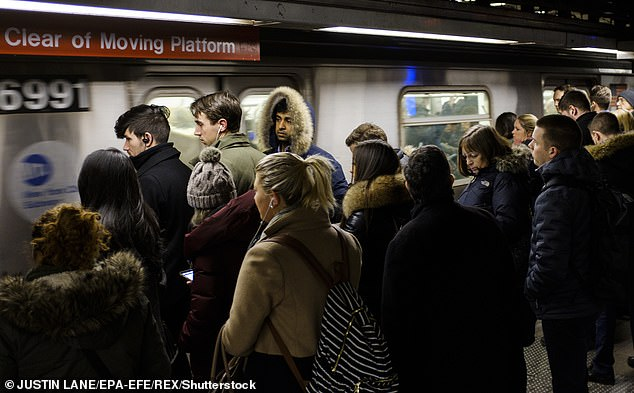 Long work commute? Then you're more likely to get Covid-19, according to a study. Researchers in the United States found that neighbourhoods with large numbers of residents who travel for up to an hour on public transport to get to work were more likely to see outbreaks. (File image)