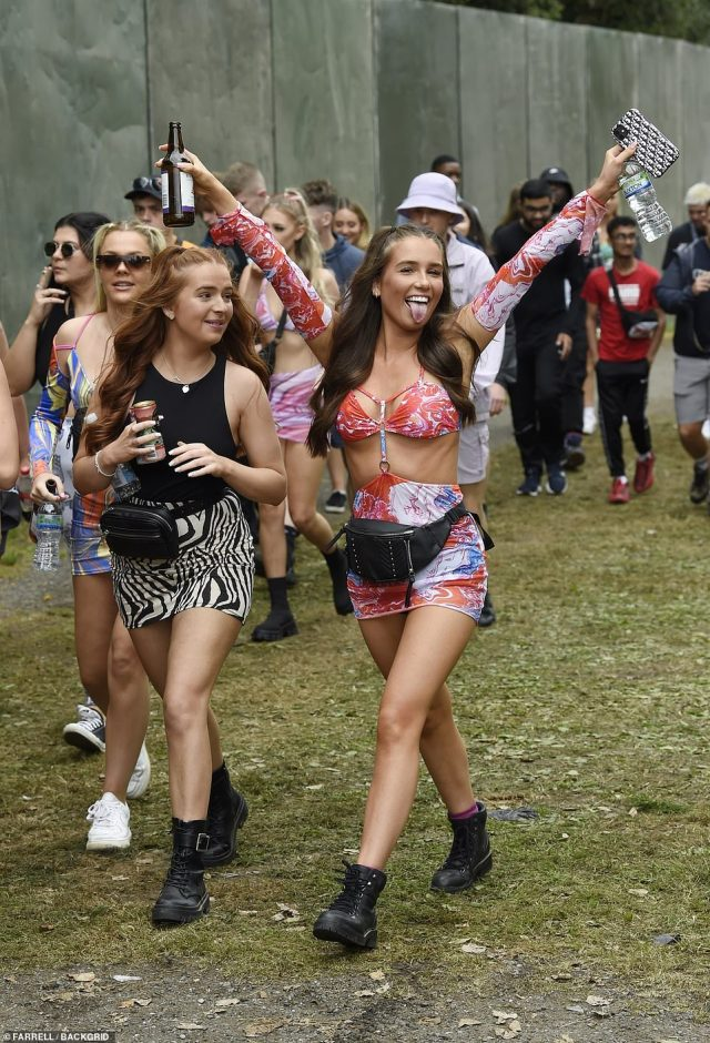 More than 80,000 festival goers in hotpants and bucket hats flocked to Manchester to dance in the sun as Dave and Megan Thee Stallion take to the stage later this afternoon