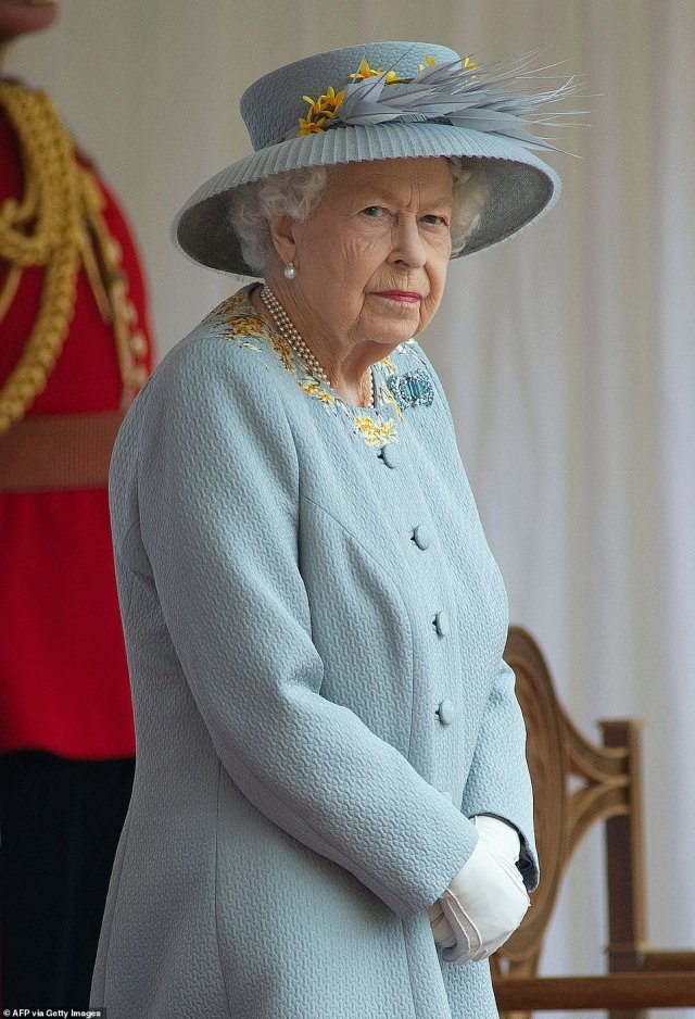 The Queen, pictured, addressed a letter to Emma where she congratulated her on winning the US Open, saying: 'It is a remarkable achievement at such a young age, and is testament to your hard work and dedication'
