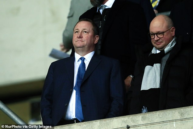 Alan Shearer launched an angry rant about Newcastle's state under owner Mike Ashley (left)