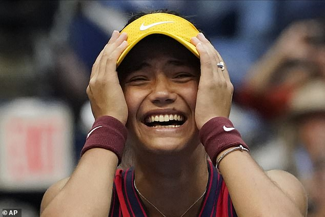 The 18-year-old Brit sensationally won the US Open on Saturday without dropping a single set