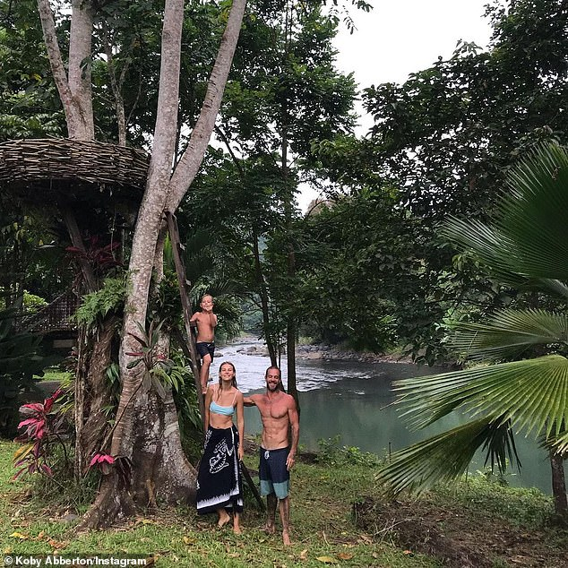 Moves:The former surf gang member and professional surfer from Maroubra Beach in Sydney, now resides in Bali with his Ukrainian model wife Olya Nechiporenko and their six-year-old son, Makua. All pictured