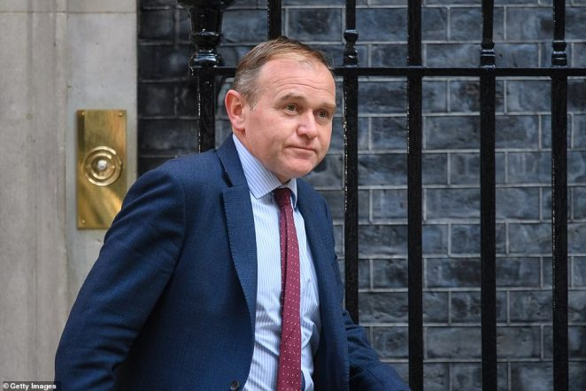 Environment Secretary George Eustice leaves following a Cabinet Meeting at Downing Street on September 7, 2021