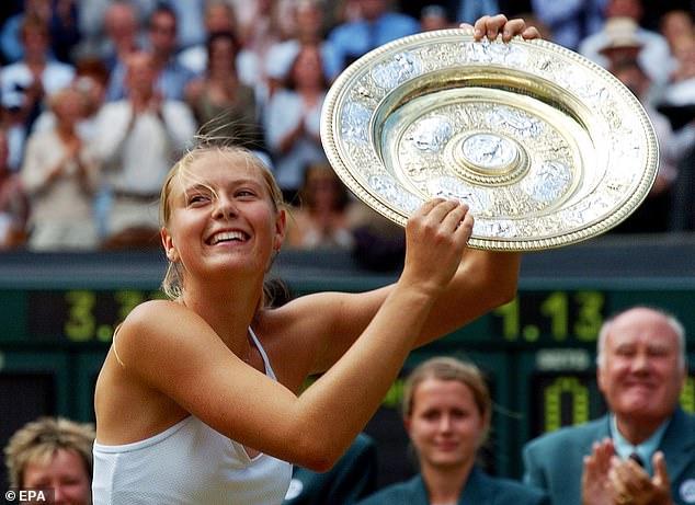 Raducanu has drawn comparisons to Maria Sharapova who won Wimbledon aged 17 (pictured)