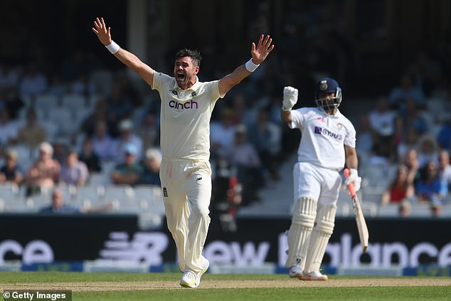 Anderson took 15 wickets in the series against India at 24.66 apiece