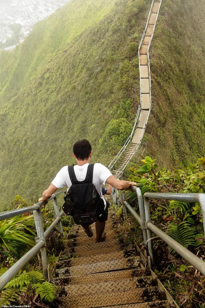 The site brings in about 4,000 visitors each year, even though it's illegal to climb and violators face $1,000 fines