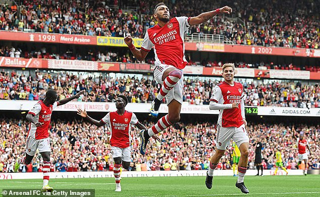 Pierre-Emerick Aubameyang's second half goal was the difference at the Emirates on Saturday