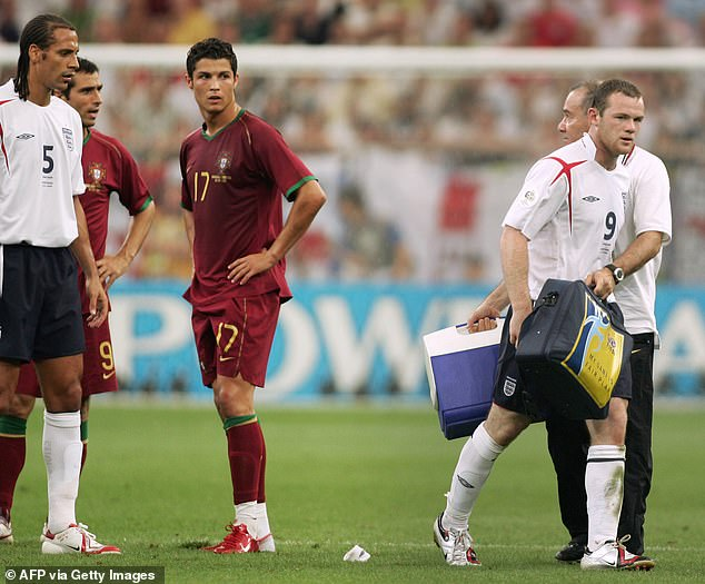 It was the same game that Ronaldo got Man United team-mate Wayne Rooney sent-off