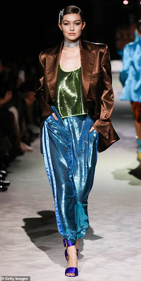 Go with the flow: Slinky silhouettes like long line jackets and slouchy trousers lent to maximum movement