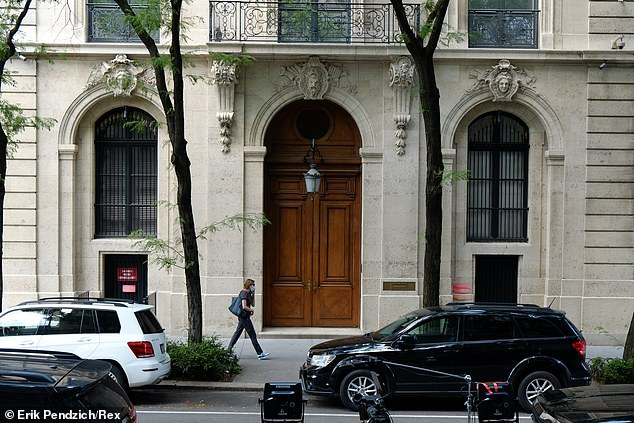 In August 2018, Bannon was spotted entering Epstein's massive townhouse on East 71st Street early one morning. The mansion is seen above in a file photo