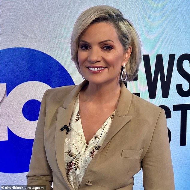 Confirmed: In a statement on Monday, a 10 spokesperson told TV Blackbox: 'Network 10 can confirm that a staff member has tested positive to COVID-19. The health, safety and welfare of all staff and the community is our number one priority.' Pictured: 10 News First anchor Sandra Sully -who has not been named as a close contact