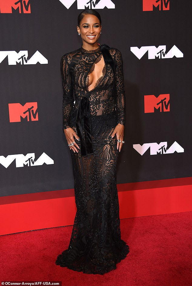 Simply stunning: Ciaraput on a scintillating display as she hit the red carpet at the 2021 MTV Video Music Awards on Sunday night