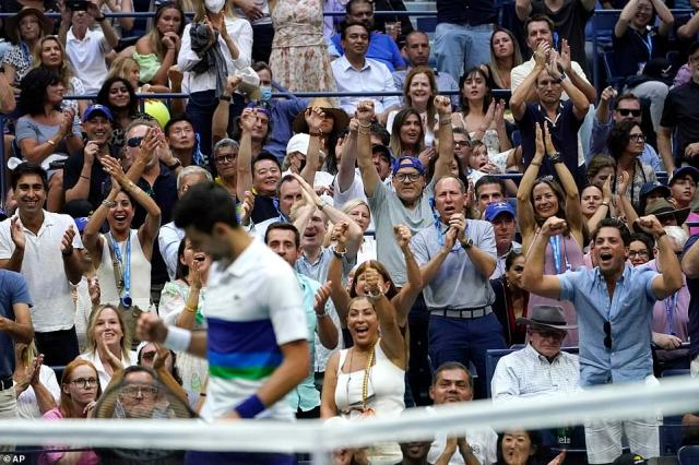 Djokovic received more support than he ever has before in a major final and the icon thanked the crowd after his defeat