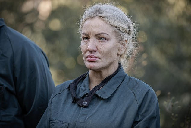 Stripped:On Monday's premiere episode of SAS Australia, Brynne Edelsten (pictured) debuted a shock new look. Stripped of her fancy dresses and heavy makeup, the bare-faced 38-year-old looked miles away from her socialite days as she faced the instructors