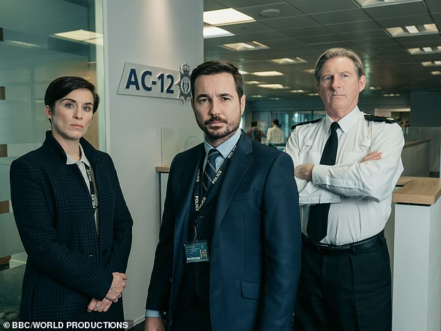 Exciting: It comes as the BAFTA winner, who is known to Line of Duty fans as DI Kate Fleming, has signed up for another project with ITV, a six-part thriller called Trigger Point (pictured in character)
