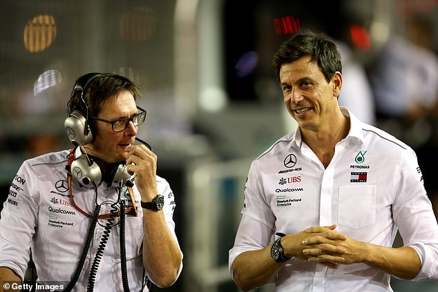 Mercedes' trackside engineering director Andrew Shovlin (left) says Red Bull are blaming Lewis Hamilton for Sunday's Italian Grand Prix crash to protect Max Verstappen