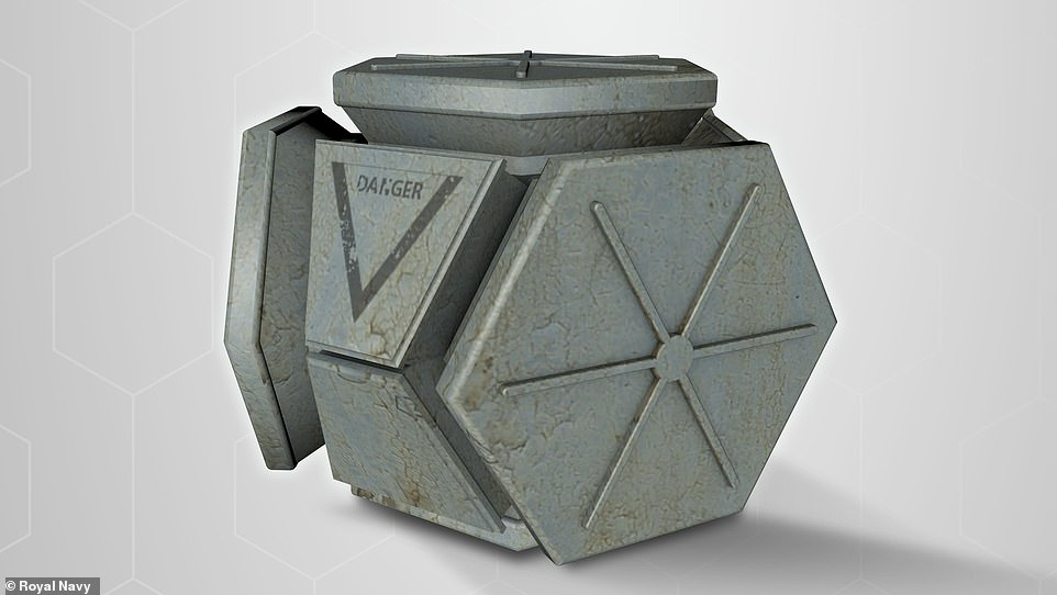 'Danger': Hex Blocks (pictured) would carry mission-specific payloads such as weapons and ammunition, humanitarian aid, surveillance technology orelectromagnetic pulse (EMP) devices